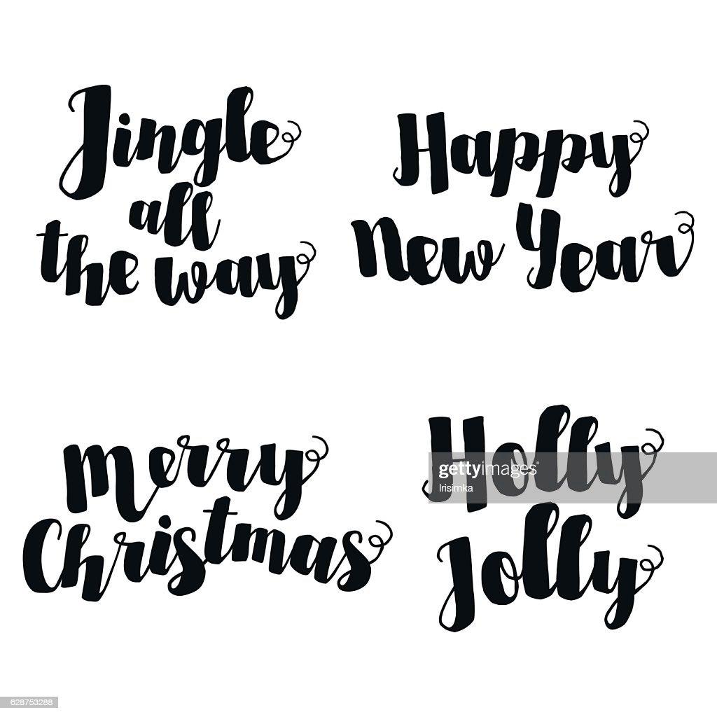 Jingle All The Way Christmas Carol Inspirational Quote Elegant Ink ...