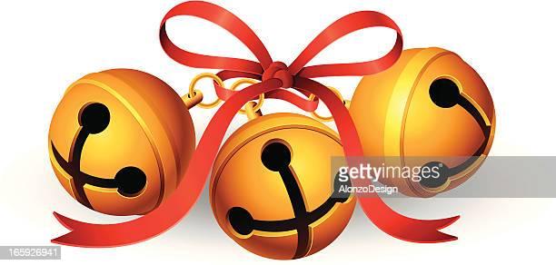 jingle bells - bell stock illustrations