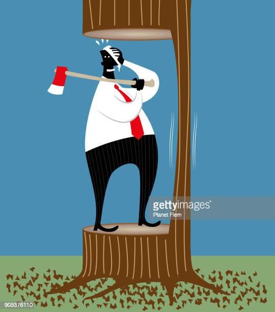 job cuts - careless stock illustrations, clip art, cartoons, & icons