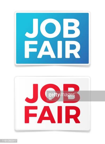 job fair signs - job fair stock illustrations