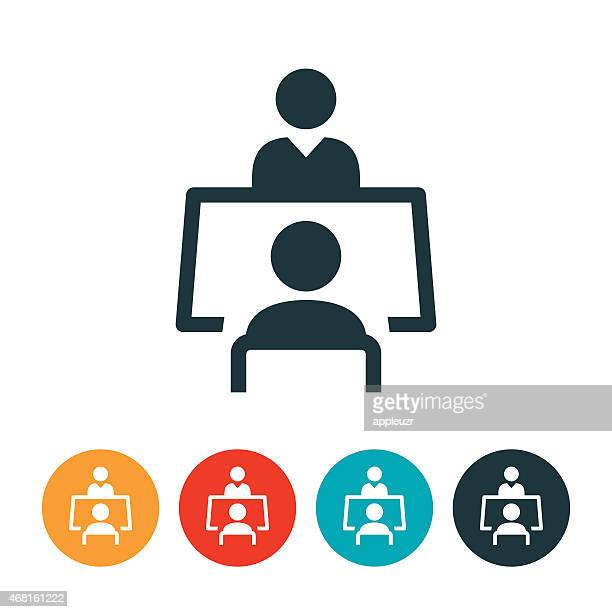 job interview icon - interview stock illustrations, clip art, cartoons, & icons