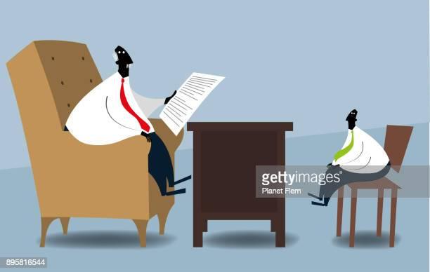 job interview - job interview stock illustrations, clip art, cartoons, & icons