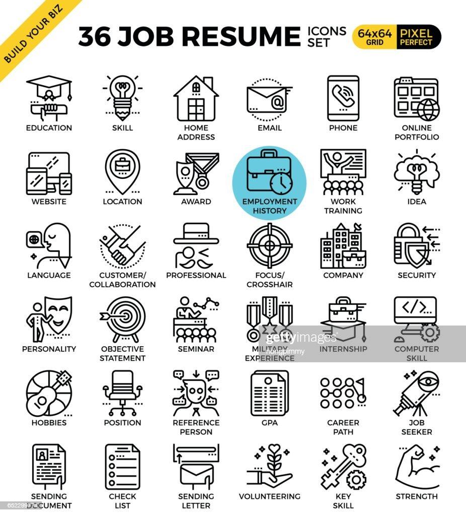 Job Resume Icons