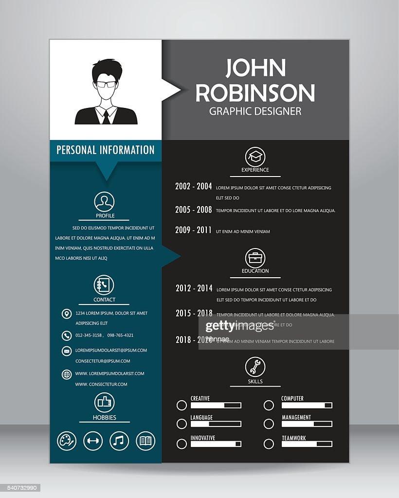 job resume template, vector