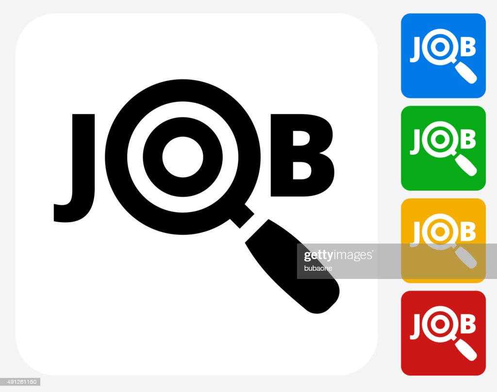 Job Search Icon Flat Graphic Design