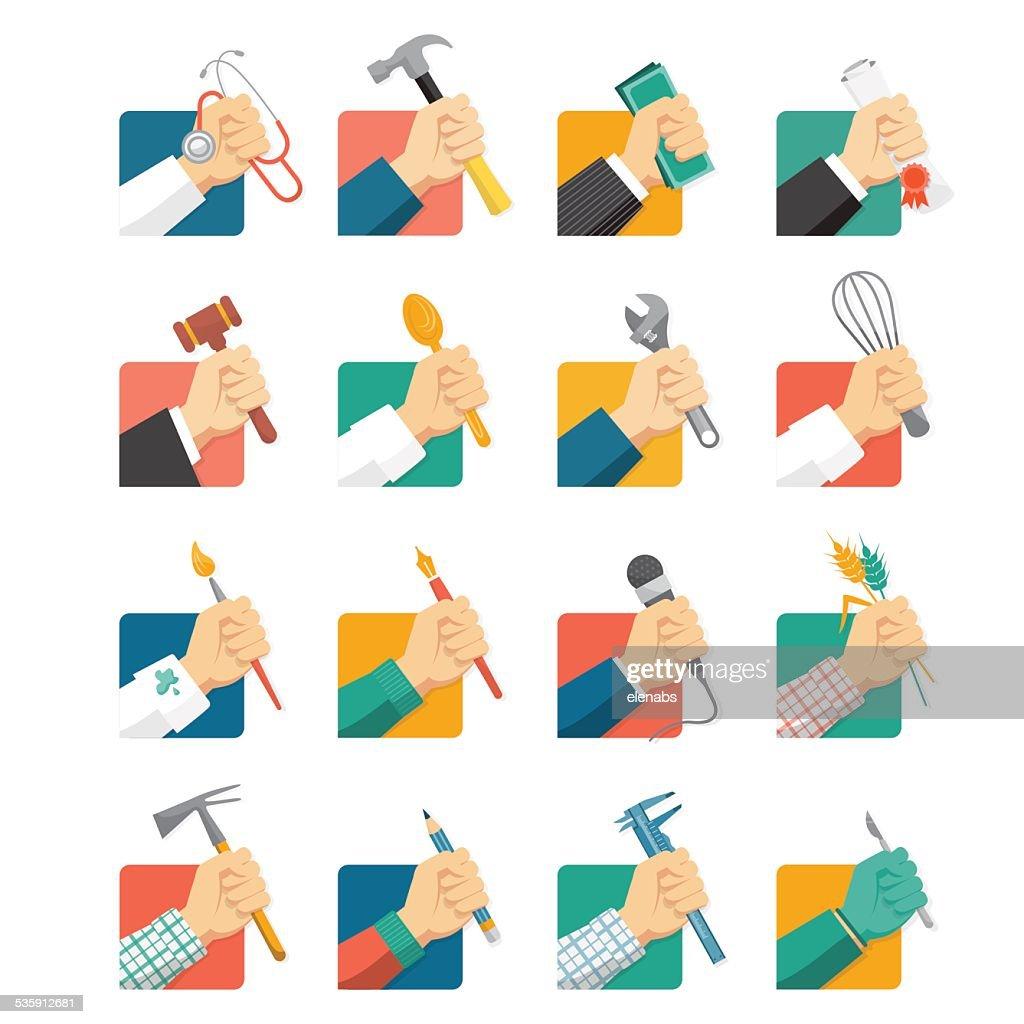 Jobs avatars : Vector Art