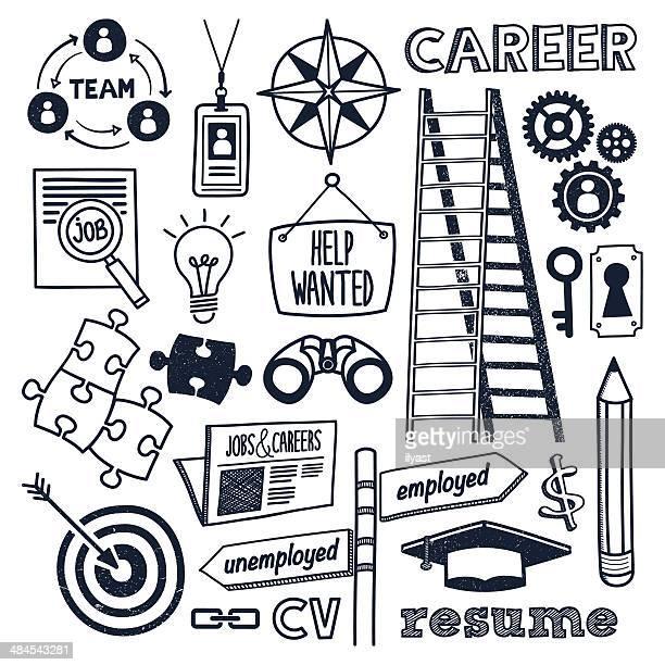 ilustraciones, imágenes clip art, dibujos animados e iconos de stock de empleos & carrera - ojo de cerradura