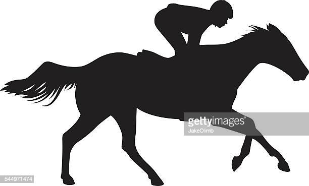 Jockey Riding Horse Silhouette