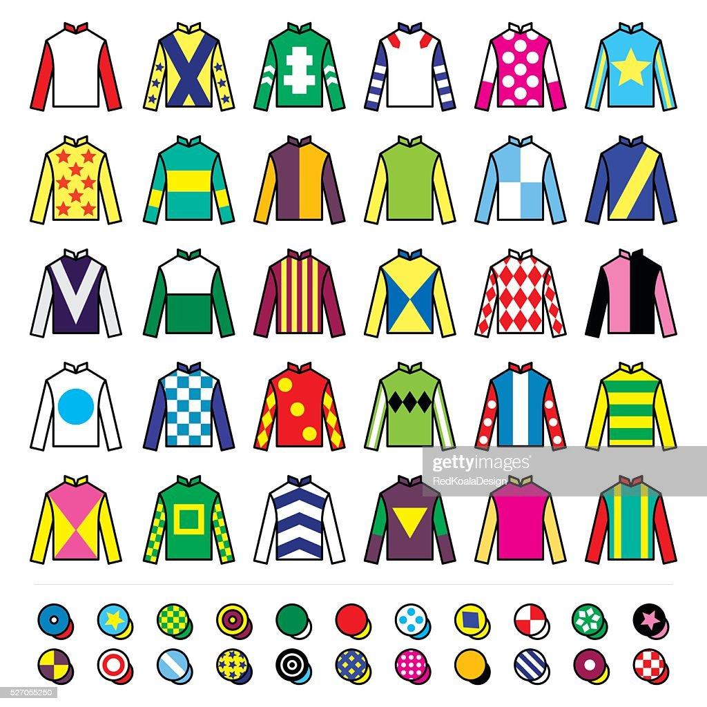 Jockey uniform - jackets, silks and hats, horse riding