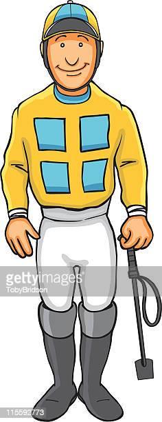 stockillustraties, clipart, cartoons en iconen met jockey - jockey