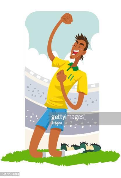 Jogador de futebol no estadio