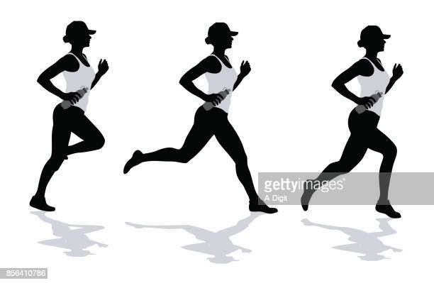 jogging exercise - young adult stock illustrations, clip art, cartoons, & icons