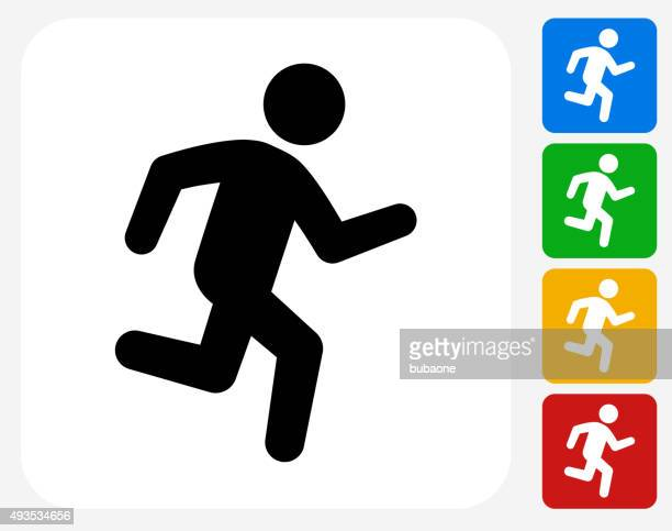 Jogging Icon Flat Graphic Design