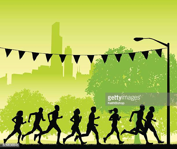 jogging or runners club background - women's track stock illustrations, clip art, cartoons, & icons
