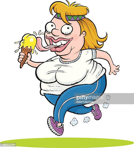 jogging - step aerobics stock illustrations, clip art, cartoons, & icons