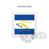 Johnston Atoll Flag Postage Stamp