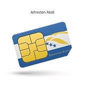 Johnston Atoll mobile phone sim card with flag