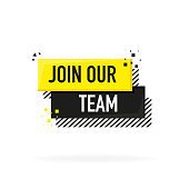 Join our team. Vector flat illustration on white background.