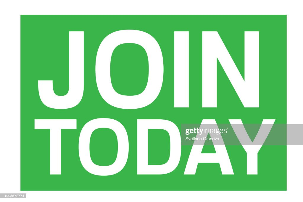 Join Today typographic stamp
