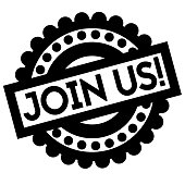 Join Us typographic stamp