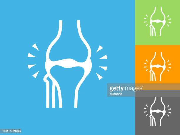 Joint  Flat Icon on Blue Background