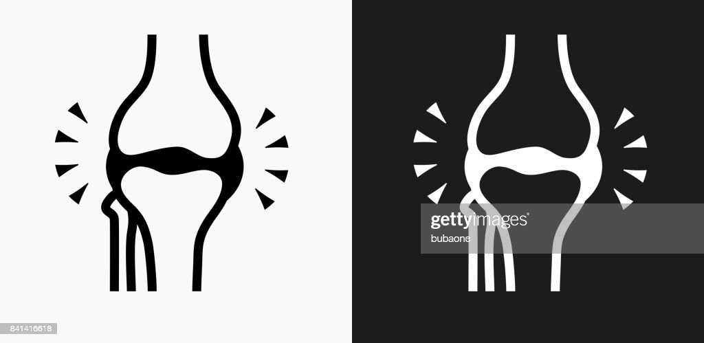 Joint Icon on Black and White Vector Backgrounds : stock illustration