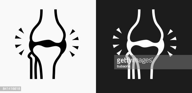 Joint Icon on Black and White Vector Backgrounds