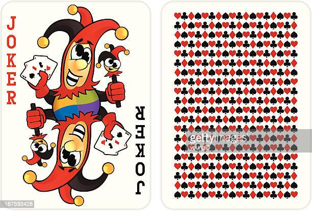 joker card - joker card stock illustrations, clip art, cartoons, & icons