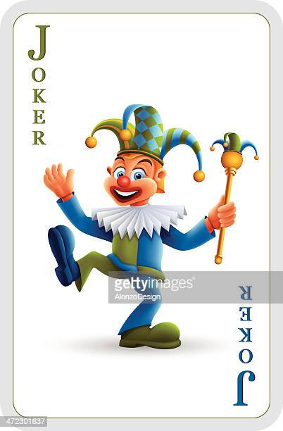 joker card - jester stock illustrations, clip art, cartoons, & icons