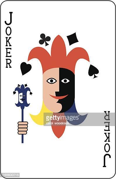 Coringa cara dois cartão de jogo