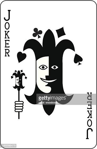 joker face - jester stock illustrations, clip art, cartoons, & icons