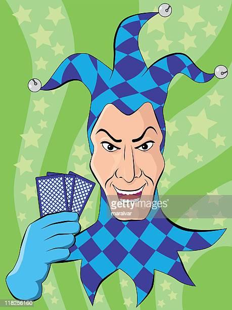 joker jester head