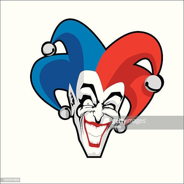 joker - jester stock illustrations, clip art, cartoons, & icons