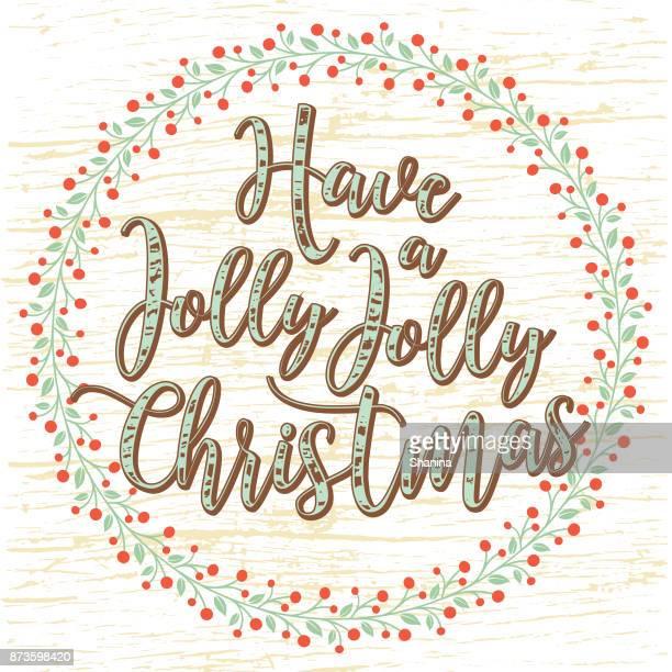 Jolly jolly christmas greeting card