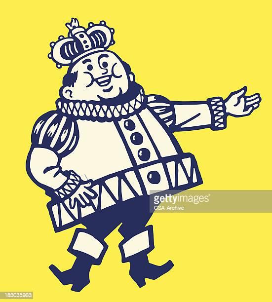 jolly king - emperor stock illustrations, clip art, cartoons, & icons