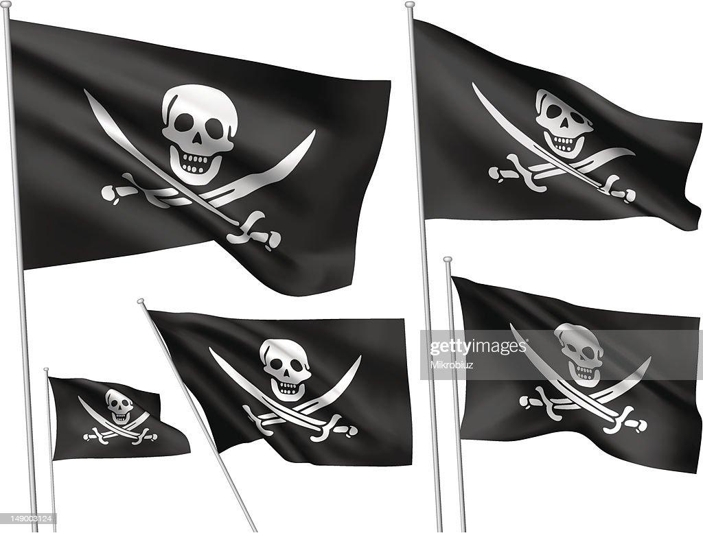 Jolly Roger vector flags (Calico Jack Rackham)