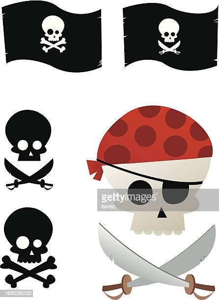 jolly roger - kong: skull island stock illustrations