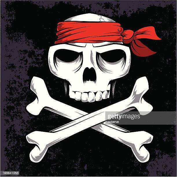 ロジャー・ジョリー - 海賊旗点のイラスト素材/クリップアート素材/マンガ素材/アイコン素材