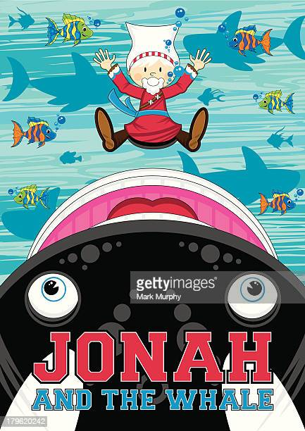 jonah and the whale illustration - killer whale stock illustrations, clip art, cartoons, & icons