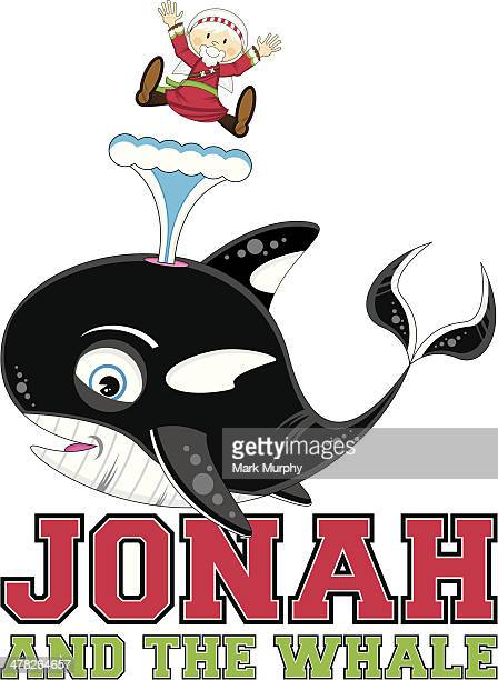 Jonah and the Whale Illustration