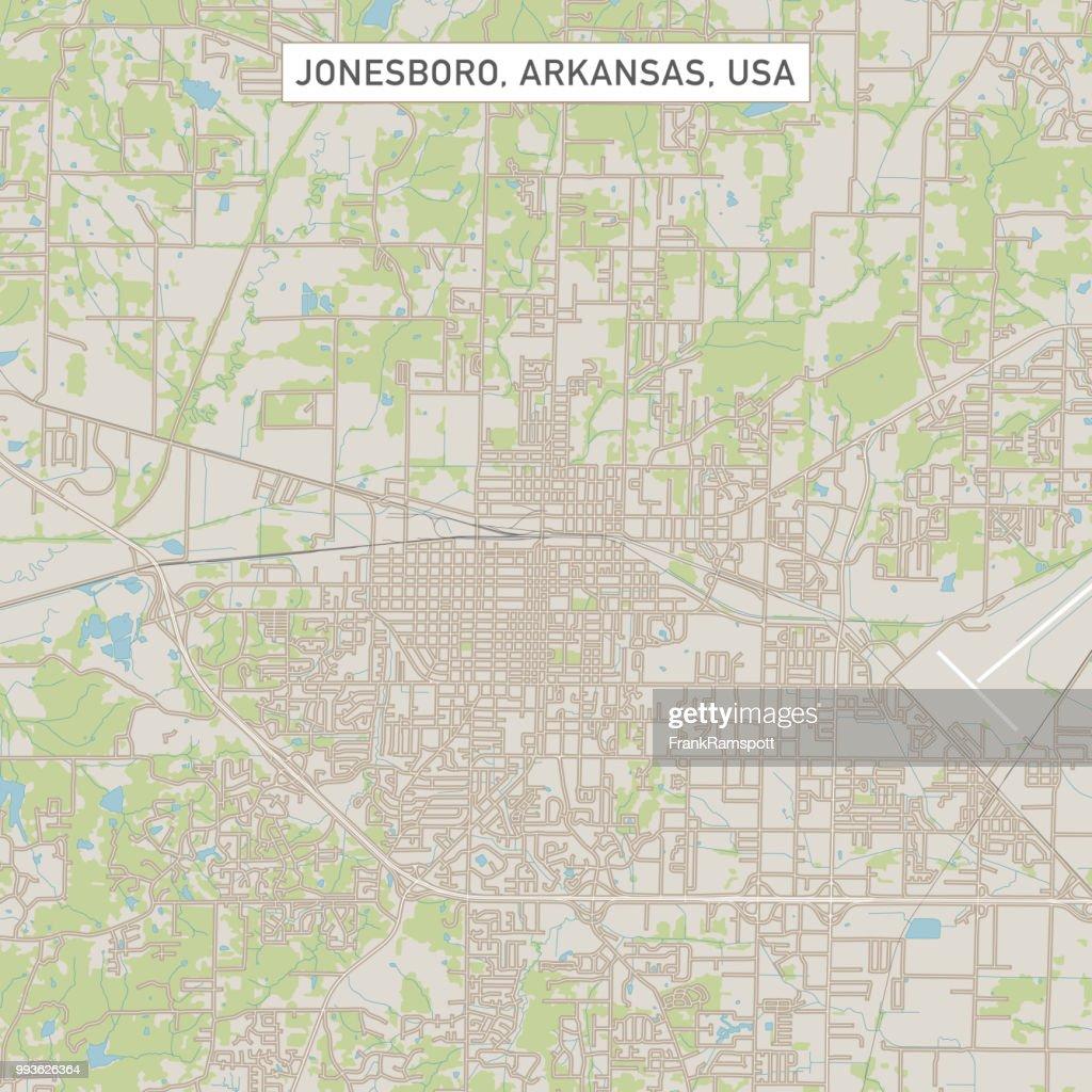 Jonesboro, Arkansas USA Stadtstraße Karte : Vektorgrafik