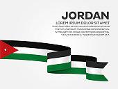 Jordan flag background