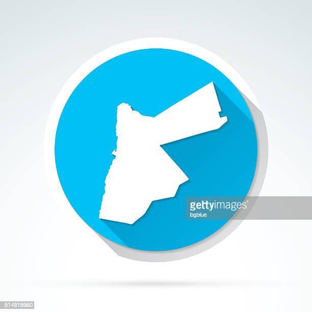 Jordan map icon, Flat Design, Long Shadow