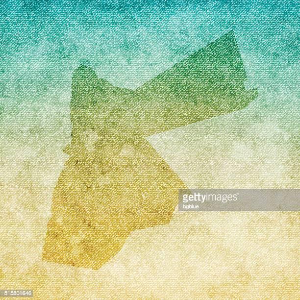 Jordan Map on grunge Canvas Background