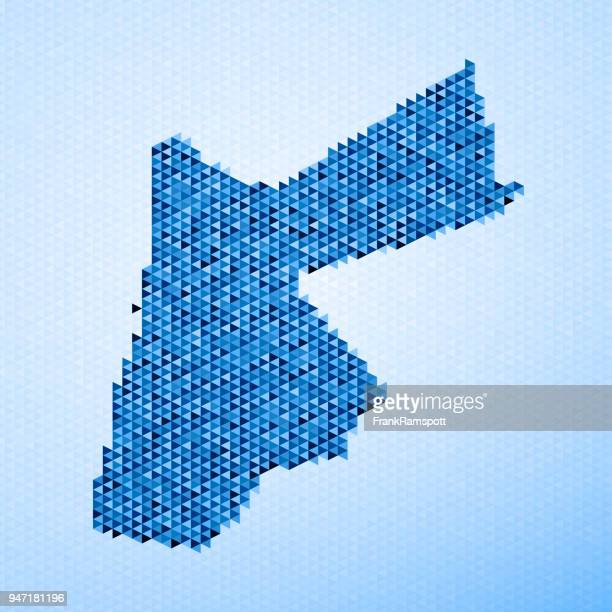 jordan map triangle pattern blue - jordan middle east stock illustrations, clip art, cartoons, & icons