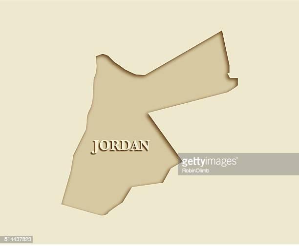 jordan map - jordan middle east stock illustrations, clip art, cartoons, & icons
