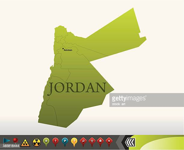Jordan map with navigation icons