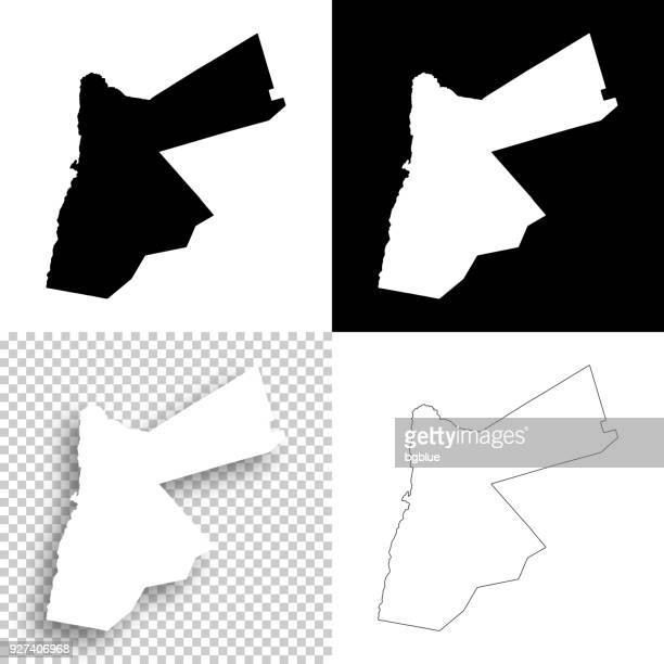 jordan maps for design - blank, white and black backgrounds - jordan middle east stock illustrations, clip art, cartoons, & icons