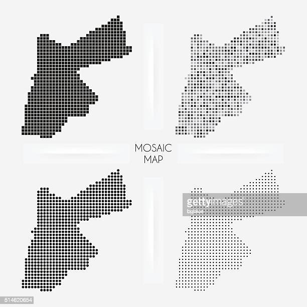 Jordan maps - Mosaic squarred and dotted
