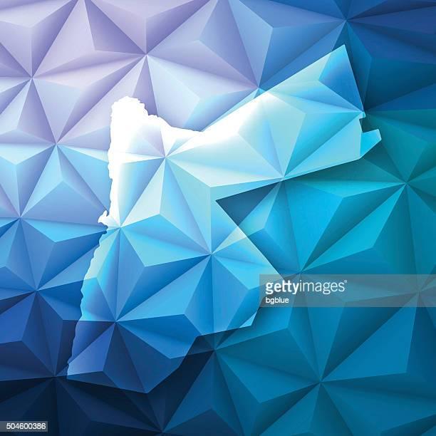 Jordan on Abstract Polygonal Background - Low Poly, Geometric